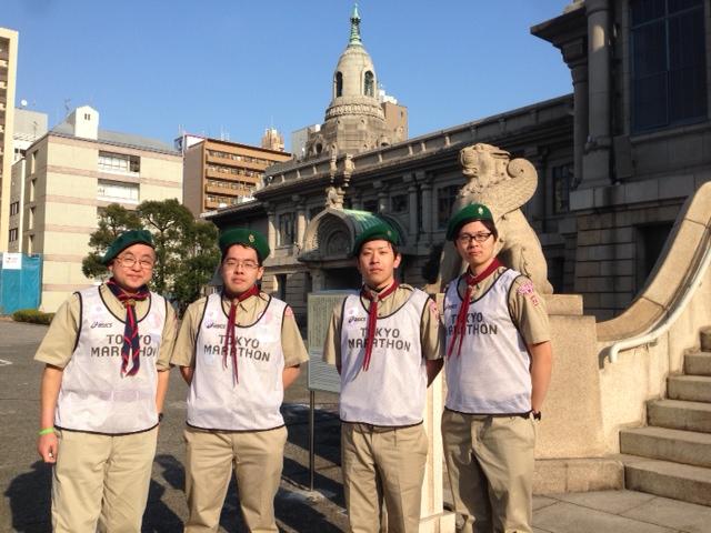 東京マラソン奉仕集合写真